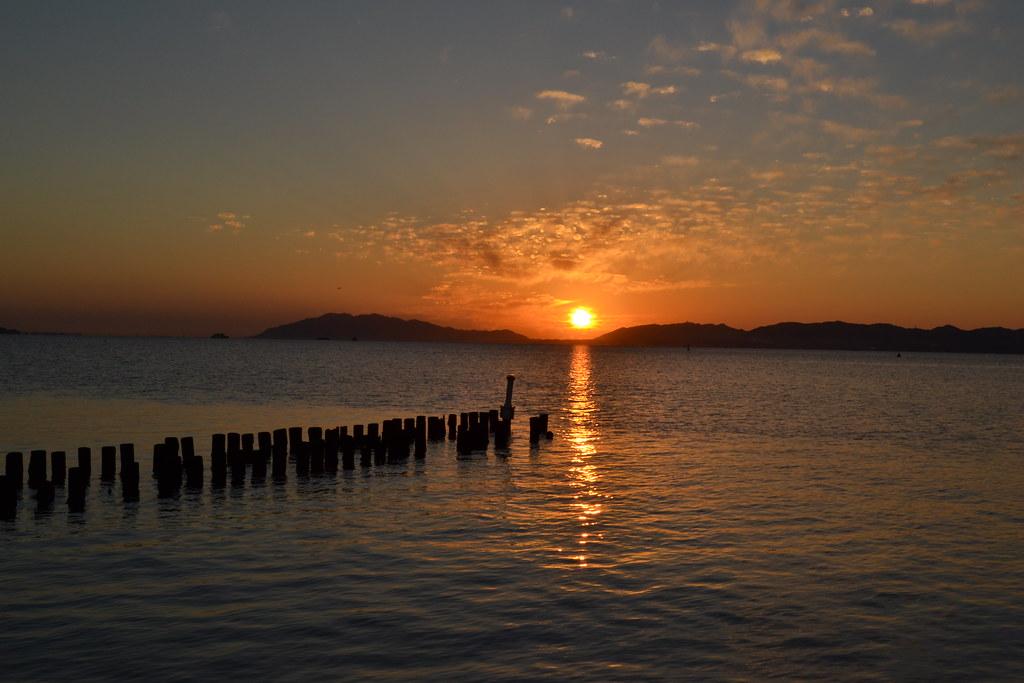宍道湖の夕日02