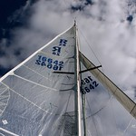Main sail and Genoa out, sailing Ranger 28