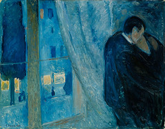 Kiss By The Window, 1892, by Edvard Munch