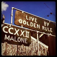 Live by the golden rule. @orangeshow on Flikr
