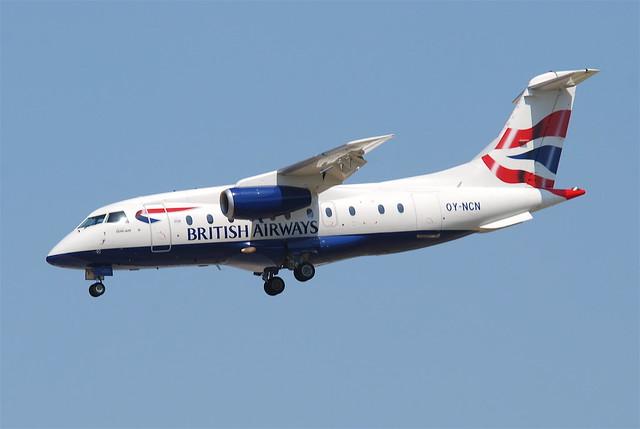 British Airways (Sun-Air of Scandinavia) Dornier 328JET; OY-NCN@FRA;16.07.2011/609et