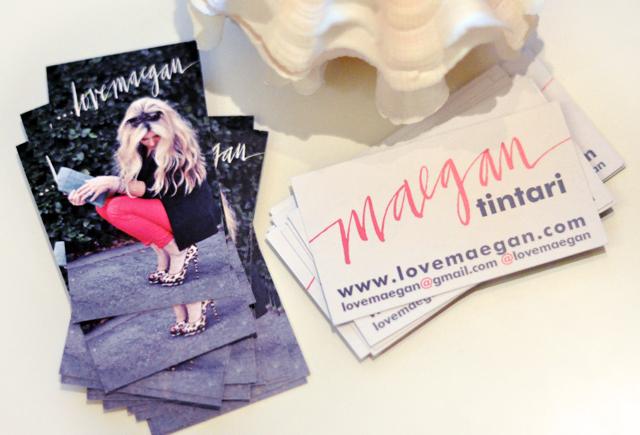 Fun New Blog Business Cards Love Maegan
