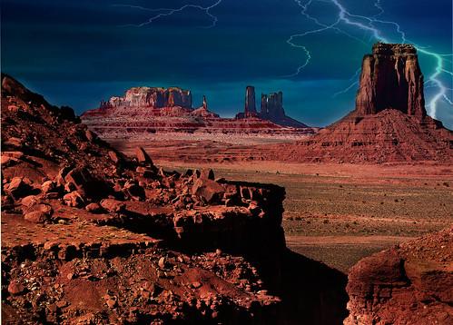 red arizona southwest rock stone rocks skies redrocks lightening monuments colorphotoaward