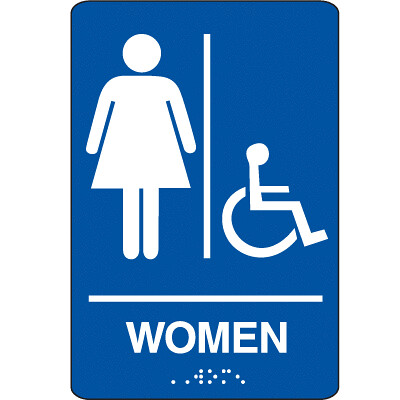 Women 39 s bathroom sign flickr photo sharing for Women s bathroom sign