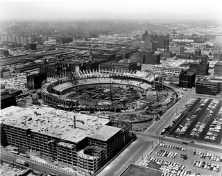 Aerial View of Busch Stadium Construction (MSA)