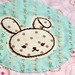 embroidered bunny applique