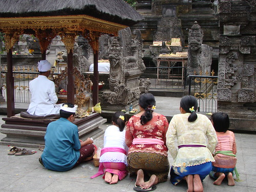 Bali Ubud Cremation Ceremony at Hindu Temple by Vasenka