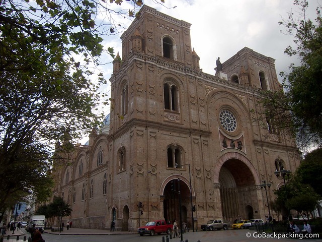 The monumental La Catedral is situated at the heart of Cuenca's historic city center.