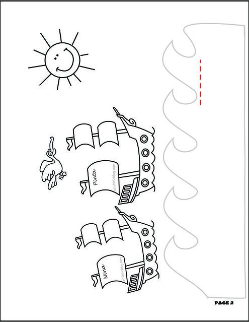 Free Coloring Pages Of Nina And The Neurons Pinta Santa Coloring Pages