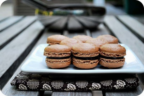 Dark Chocolate Macarons