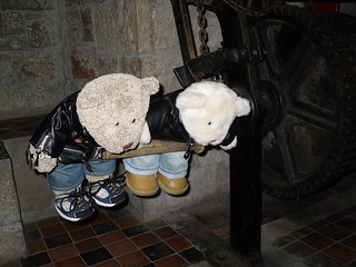 Ted and Nobby at Castell Coch, South Wales