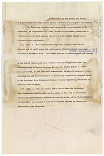 Gulf of Tonkin Resolution, as Introduced, S.J. Res. 189, 08/04/1964 (page 2 of 2)