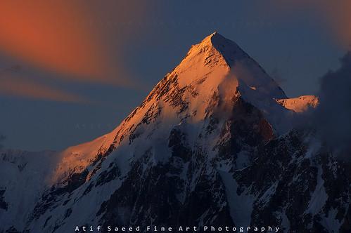 pakistan sunset mountain mountains nature landscape peak rush karakoram hunza gilgit 7000 rushlake 7000m impressedbeauty hisper atifsaeed momhil