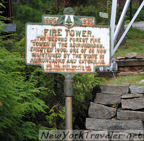 51 Whiteface Fire Tower Marker