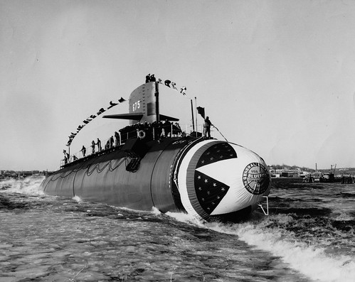 Launching of the USS Bluefish (SSN-675)