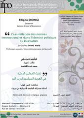 Affiche du séminaire de Filippo Dionigi