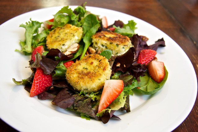 fried goat cheese salad | Flickr - Photo Sharing!