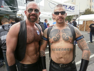 FOLSOM STREET FAIR 2011 - FSF 2011- LEATHER & LATEX FUN 304-BAD DADDIES-PORN STAR MARCO DBRUTE (left)