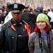 Girl in Green Hat Arrested: Occupy Wall Street Occupies the Brooklyn Bridge by Adrian Kinloch