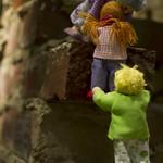 climbing the bricks