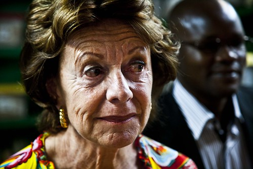 Neelie Kroes, Vice President of the European Union and Commissioner for the Digital Agenda visits Kenya