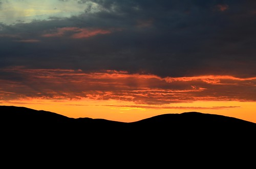 sky sunrise mongolia steppes