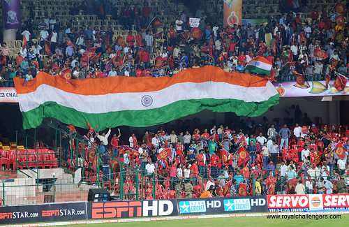 RCBians at stadium, Indians at heart!