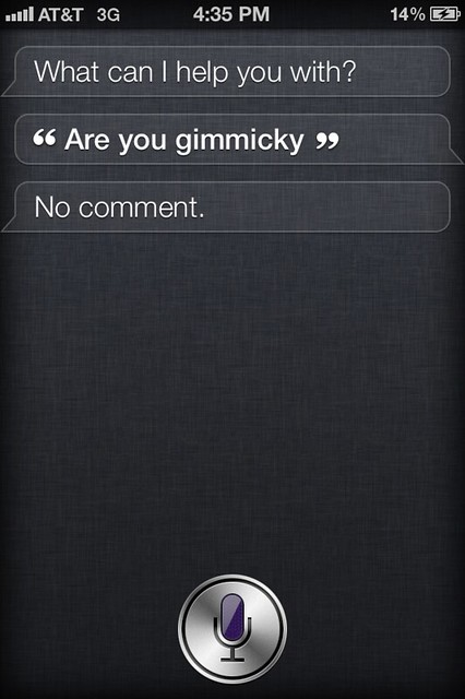 Siri Is Gimmick?