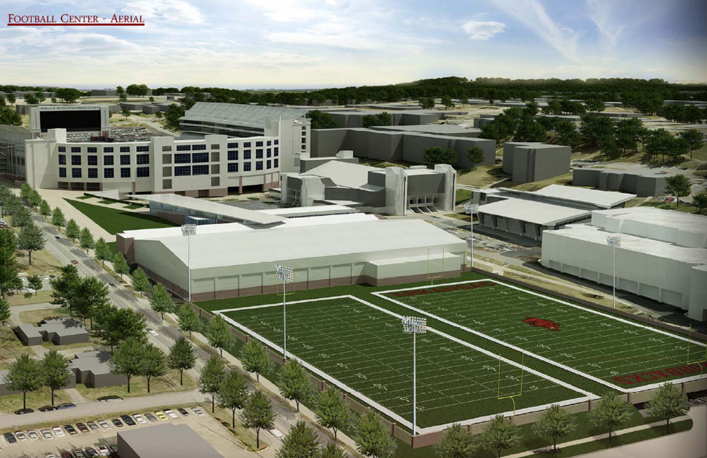 Arkansas unveils athletics master facilities plan for Deck builders fayetteville ar