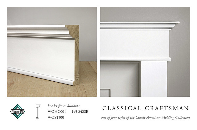 Classical craftsman header molding buildup header for Craftsman style molding photos