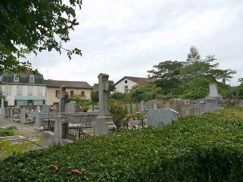 Bellocq, Pyrénées Atlantiques: le cimetière du temple