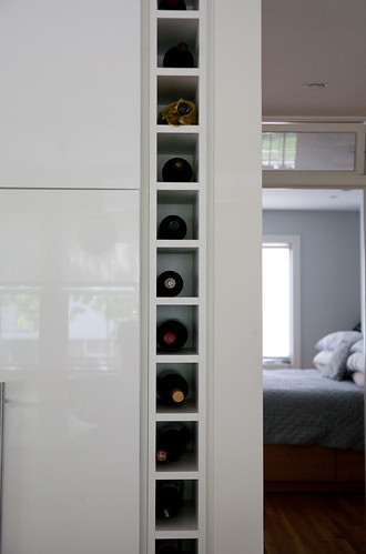 Built-in wine rack
