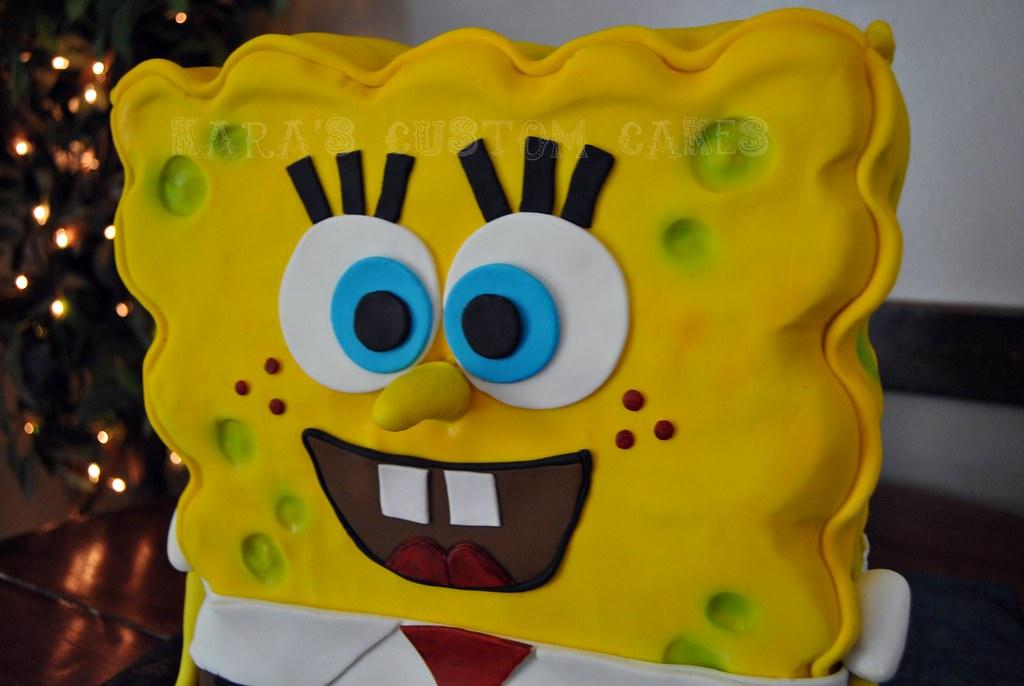 Spongebob squarepants cake for the wonderful non profit icing smiles