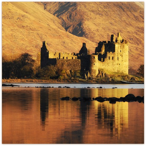 castle water sunrise reflections square gold scotland highlands nikon hills samantha nicol kilchurn