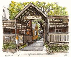 orange court, davis