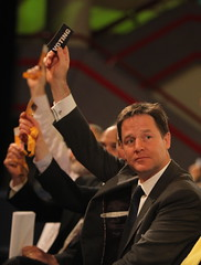Nick Clegg at the Lib Dems' Autumn conference last year.  The Liberal Left with be trying to cause trouble for him at the upcoming spring conference.  Image from the Liberal Democrats' photostream