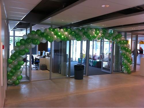 Ballonboog 10m Opening Melanchthon Mathenesse School Rotterdam