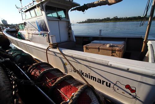 morning japan sunrise boat hellokitty 日本 fishingboat fukui 漁港 fishingport 福井県 漁船 三国港
