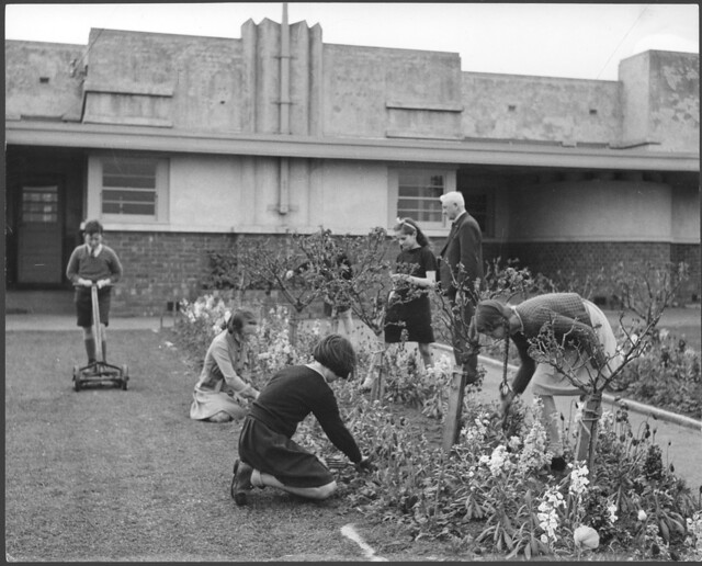 Drouin Australia  city images : Students at Drouin State School, Victoria tend the school's garden ...