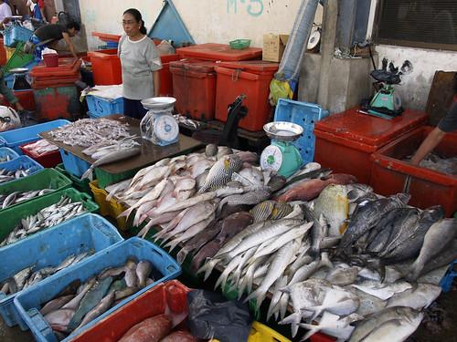 Fish market in Kota Kinabalu, Malaysia, photo by Jamie Oliver, 2007