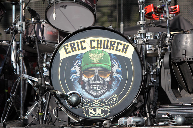 eric church drum set capitol music street party 9 21 2011 nashville tn aaa flickr. Black Bedroom Furniture Sets. Home Design Ideas