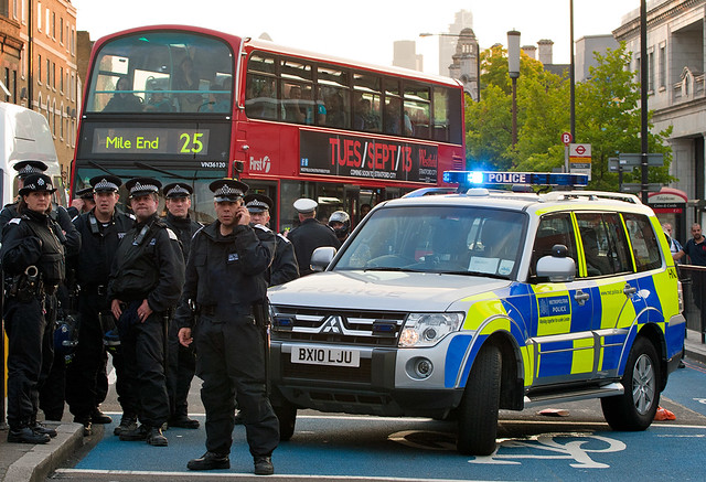 Roadblock : Anti-EDL Protests, London, September 2011