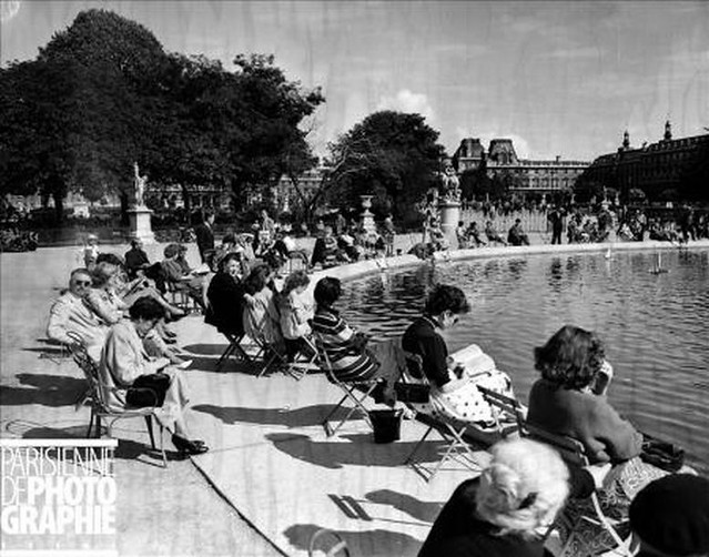 1955 grand bassin du jardin des tuileries flickr photo sharing - Grand bassin de jardin ...