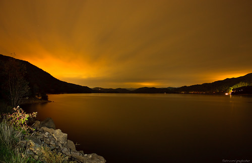 Watauga Lake at Night