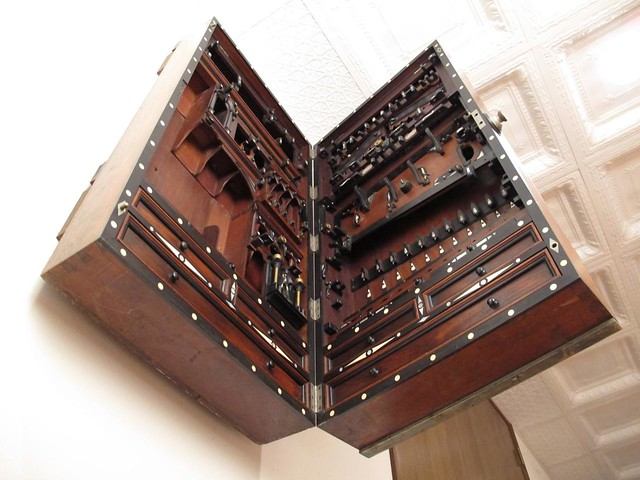 Studley Chest, empty and half open