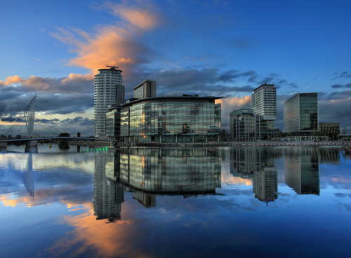 Evening at Salford Quays