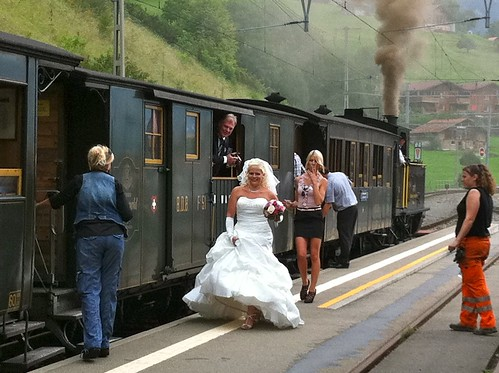Swiss Steam Train Wedding 7