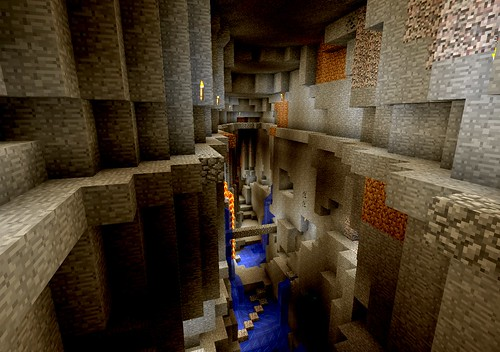 Minecraft 1.8 is out, it has some cool new underground features!