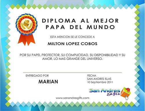 Diploma Para Papa