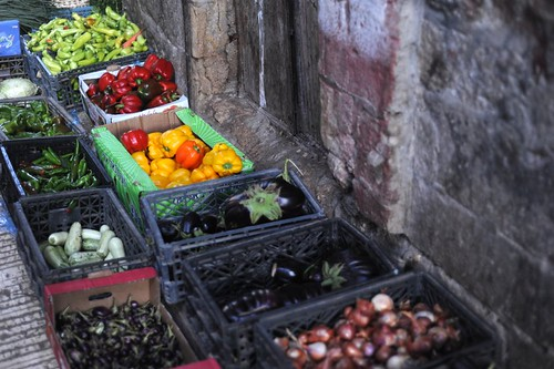 Nablus souq vegetables